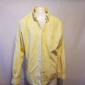 Tommy Hilfiger,yellow and white, button down,med